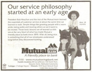 Mutual Sav Bank Ad